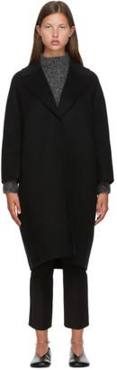 S Max Mara Black Wool Julia Coat