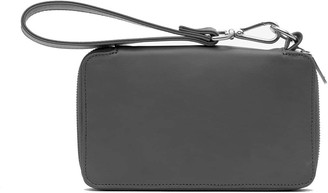 Holly & Tanager Champion Zip Around Leather Wallet In Grey