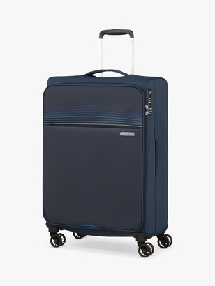 American Tourister Lite Ray 4-Wheel 69cm Medium Suitcase, Navy
