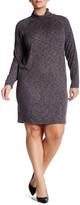 Bobeau 3/4 Sleeve Turtleneck Dress (Plus Size)