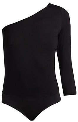 L'Agence Stacy One-Shoulder Bodysuit