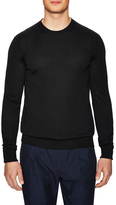 Hardy Amies Crew Knit Wool Sweater