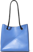 Victoria Beckham Cube Small Two-tone Leather Shoulder Bag - Blue