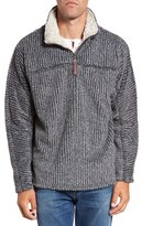 True Grit Men's Frosty Cord Pile Quarter Zip Pullover