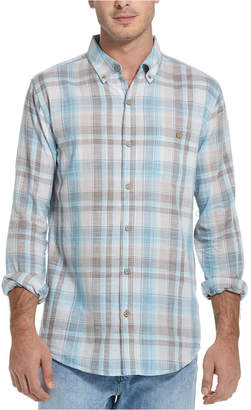Weatherproof Vintage Men Regular-Fit End-On-End Plaid Shirt
