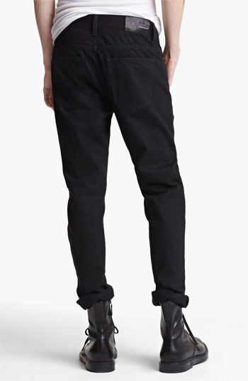 BLK DNM 'Jeans 5' Slim Straight Coated Denim Jeans (Jet Black) Jet Black 34 x 34
