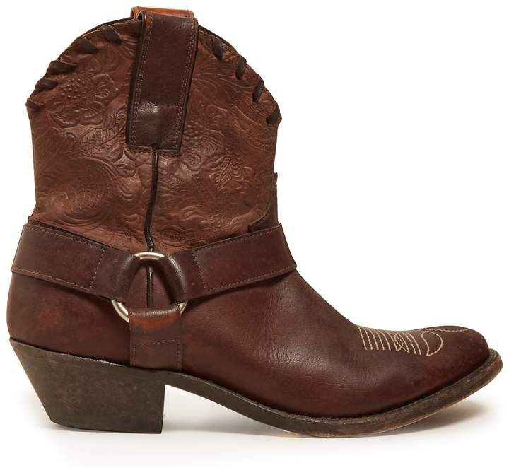 Golden Goose Old Golden leather ankle boots