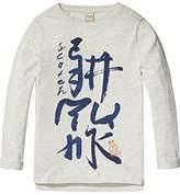 Scotch & Soda Shrunk Boy's Logo Artwork T-Shirt