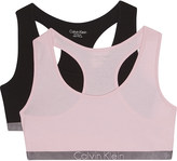 Calvin Klein Logo cotton-blend bralette set of two