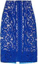Lover Poppy macramé lace pencil skirt