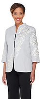 Bob Mackie Bob Mackie's Embroidered Sequin & Jewel 3/4 Sleeve Jacket