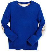 Burberry Mini Durham Cashmere Pullover Sweater, Blue, Size 4-14