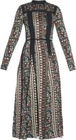 Lanvin Mosaic-print satin dress