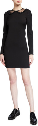 RED Valentino Long-Sleeve Cady Tech Dress