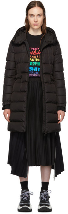 Moncler Black Down Betulong Hooded Coat