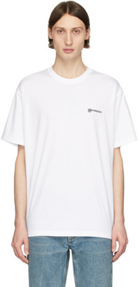 Burberry SSENSE Exclusive White Justin T-Shirt