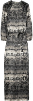 Tucker Printed silk-satin maxi dress