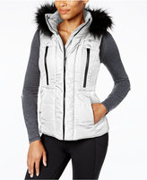 Calvin Klein Faux-Fur-Trim Puffer Vest