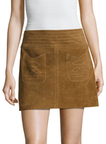 Free People Mini Modern Love Suede Skirt