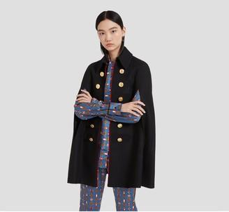 Mulberry Esme Coat Black Winter Twill