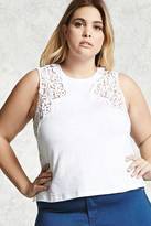 Forever 21 FOREVER 21+ Plus Size Crocheted Slub Knit Top