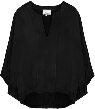 3.1 Phillip Lim Black Satin Blouse