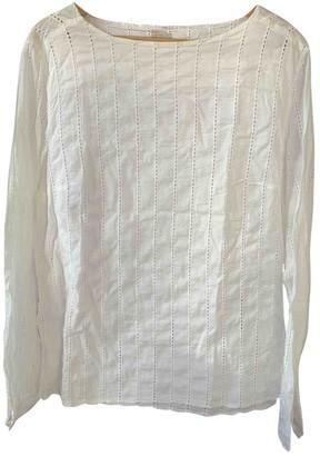 Massimo Alba White Cotton Top for Women