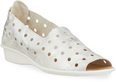 Sesto Meucci Edwina Comfort Perforated Metallic Demi-Wedge Sandals