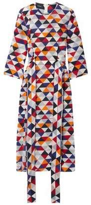 Akris Printed Silk-crepe Midi Dress