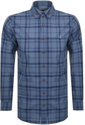 Vivienne Westwood Tartan Krall Shirt Blue