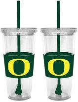 Oregon Ducks 2-pc. Double-Walled Straw Tumbler Set