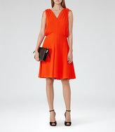 Reiss Stellie Ruffle-Shoulder Dress