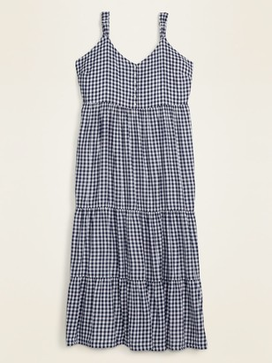 Old Navy Gingham Tiered Plus-Size Maxi Sundress