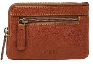 Fossil Nigel Zip Coin Case Wallet Cognac