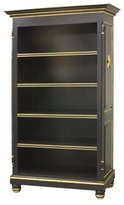 The Well Appointed House Black Bookcase with Gold Gilding and Star Accents