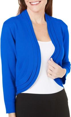 Ronni Nicole Women's 3/4 Sleeve Triple Pleat Shrug Cover Up