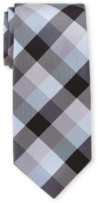 Nautica Black Pacific Plaid Tie