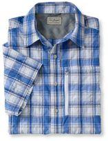L.L. Bean Men's Cool Weave Shirt, Short-Sleeve Plaid