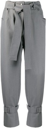 MSGM High-Rise Tweed Trousers