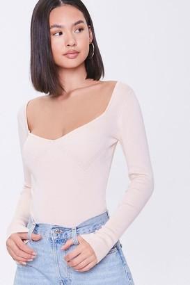 Forever 21 Scoop Sweater-Knit Bodysuit