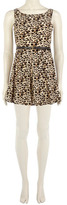 Dorothy Perkins Snow leopard belt dress