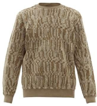 Stone Island Shadow Project - Marled Cotton Blend Fleece Sweatshirt - Mens - Green