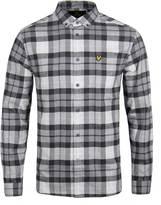 Lyle & Scott Charcoal Marl Check Flannel Shirt