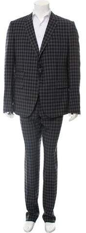 Gucci Wool Plaid Suit w/ Tags