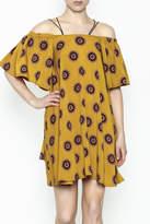 Fashion Pickle Yellow Cold Shoulder Dress