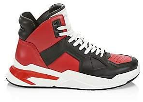 Balmain Men's Troop High-Top Leather Sneakers