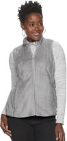 Croft & Barrow Petite Plush Faux-Fur Vest