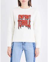Maje Enfant terrible neoprene sweatshirt