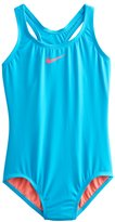Nike Girls 7-14 Solid One-Piece Swimsuit