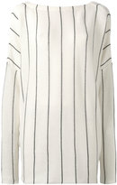 Jil Sander striped jumper - women - Silk/Cotton/Cashmere - 34